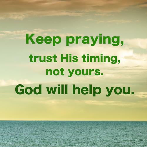 keep praying