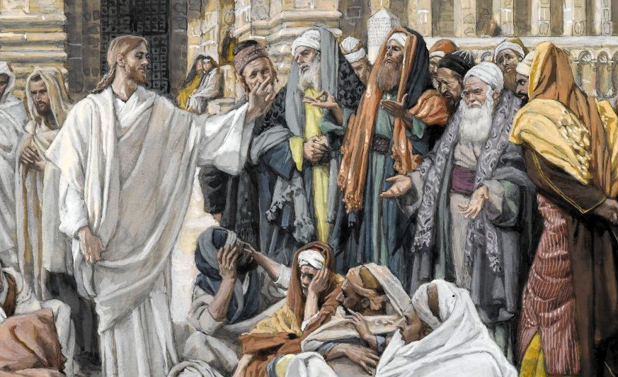 Pharisees_question_Jesus_detail