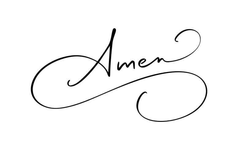 Amen in script